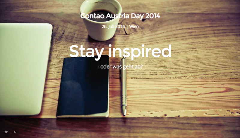 Stay inspired – oder was geht ab?